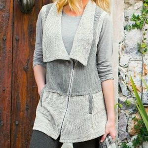 Soft Surroundings Terry Nubby Rhine Falls Vest